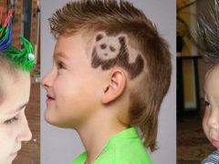 Прикольные стрижки и прически для мальчиков: фото