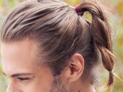 Мужские прически с хвостом: названия, виды и фото