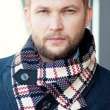 Как носить шарф мужчине под дубленку, куртку, пальто?