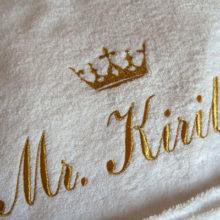 Надписи на мужских халатах — прикольно и оригинально