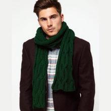 Как завязать шарф под мужское пальто правильно и красиво?