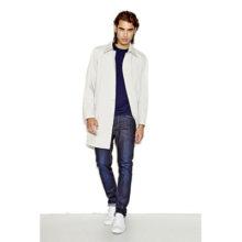 Как носить мужское пальто с джинсами?