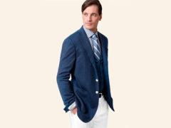 С чем носить синий, темно-синий и голубой мужской пиджак?
