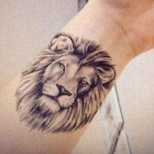 Тату льва на руке для мужчин: фотоподборка