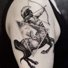 Татуировка стрелец: фотоподборка для мужчин