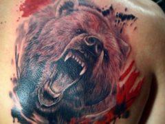 Значение татуировки медведя для мужчин + фотоподборка