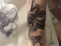 Татуировки со змеями: значение у мужчин