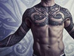 Татуировки для мужчин: узоры, орнамент, фото