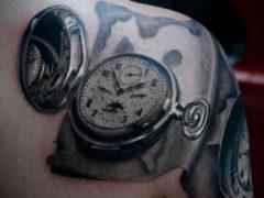 Татуировка часы на руке: значение для мужчин