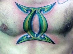 Татуировки знака зодиака близнецы для мужчин