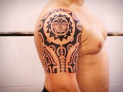 Значение тату в стиле полинезия: эскизы на плечо для мужчин