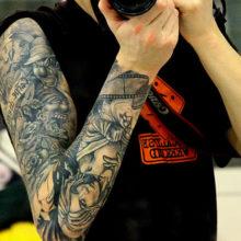 Татуировки для мужчин рукав: оригинальные эскизы в разных стилях