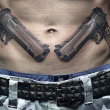 Татуировки на животе и ребрах у мужчин: 73 фото
