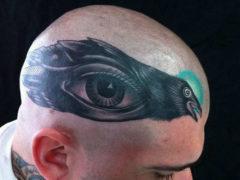 Татуировки на голове для лысых мужчин: лучшие эскизы