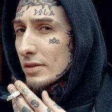 Татуировки для мужчин на лице: фото оригинальных тату