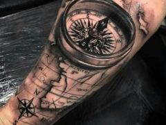 Морские татуировки для мужчин: выбирай любую