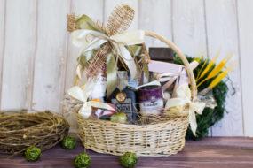 Корзина в подарок для женщины: креативный набор продуктов